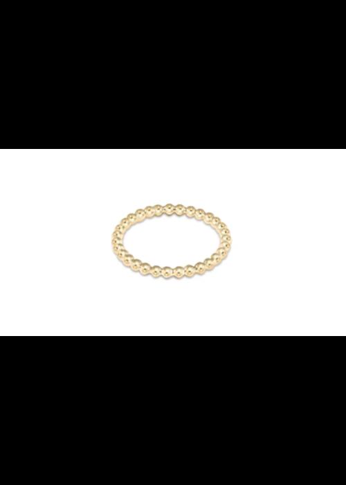 EN Classic Gold 2mm Bead Ring