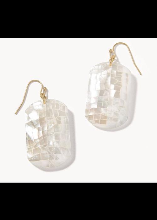 Spartina Crushed Pearl White Earrings