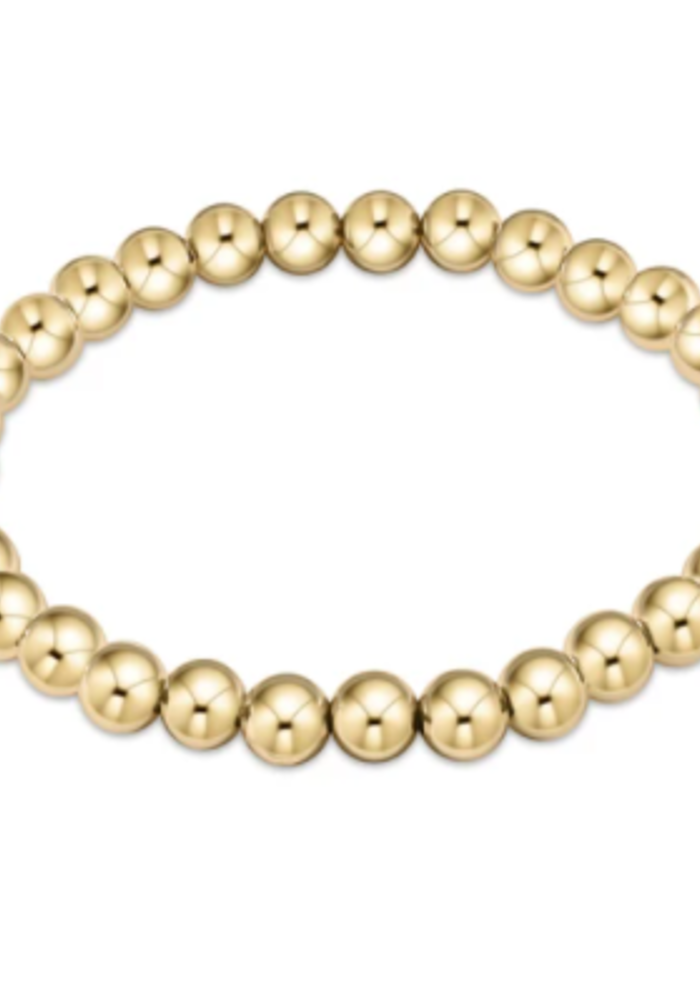 EN Classic Gold 6mm Bead Bracelet