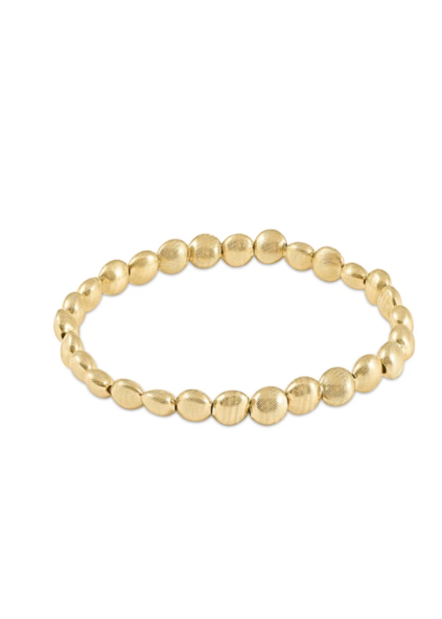 E Newton EN Honesty Gold 6mm Bead Bracelet