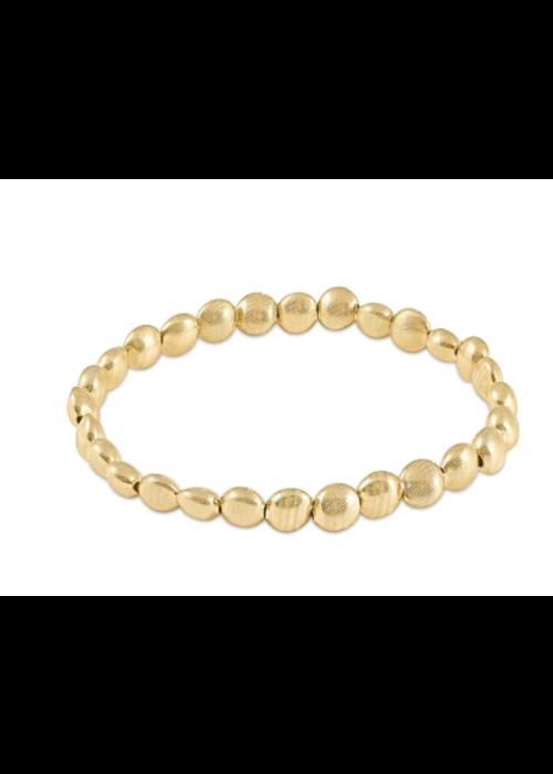 EN Honesty Gold 6mm Bead Bracelet