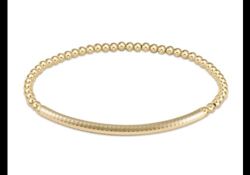 EN Bliss Bar Textured 3mm Bead Bracelet Gold