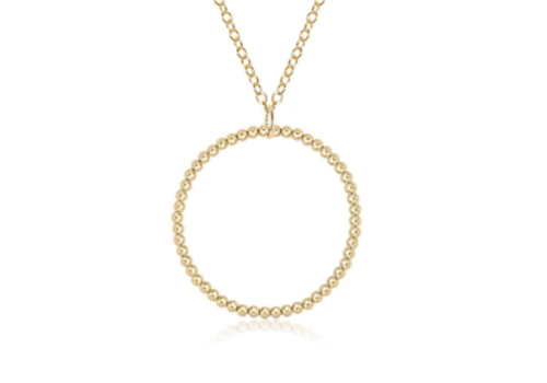 Halo Gold Charm 3mm Necklace