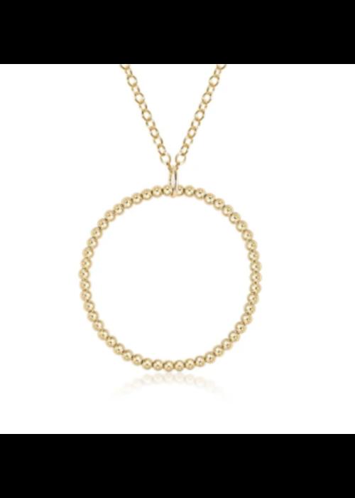 E Newton Halo Gold Charm 3mm Necklace