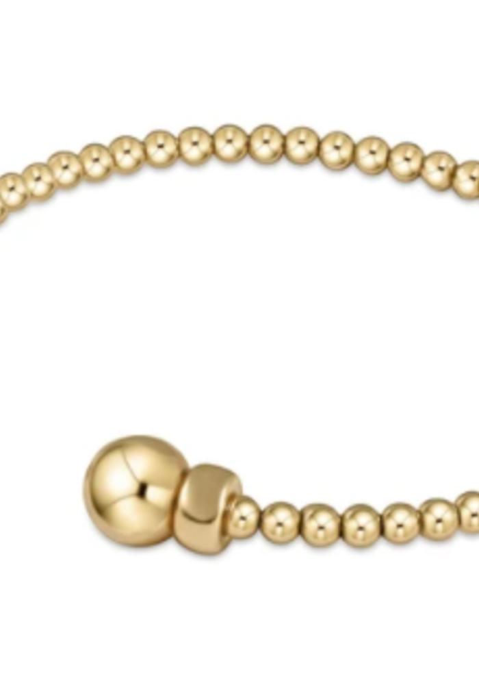 EN Classic Gold 3mm Bead Cuff - Gold
