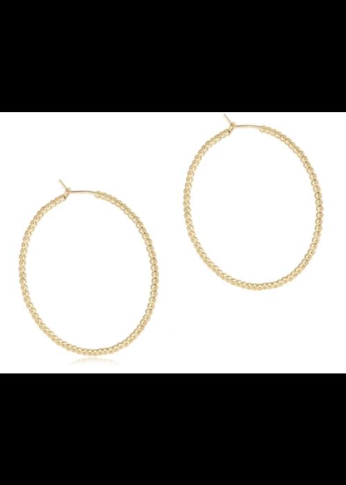 E Newton EN Beaded Gold 1.75 Hoop with 2mm Bead