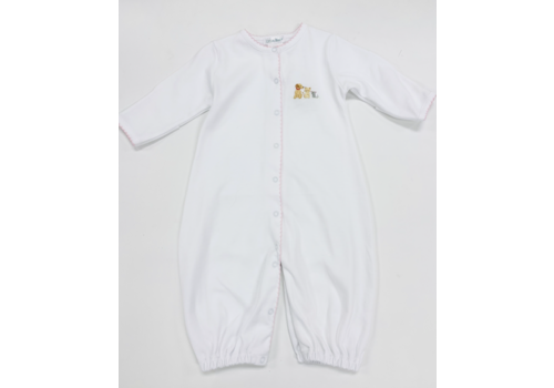 Lyda Baby LB Converter Gown - Cute Pets Emb Girl Wht