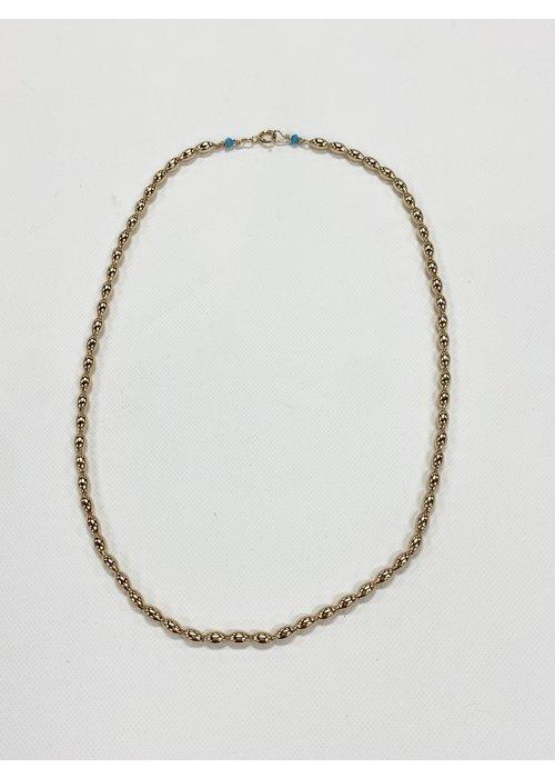 "EN 15"" Choker Harmony Small Gold Bead"