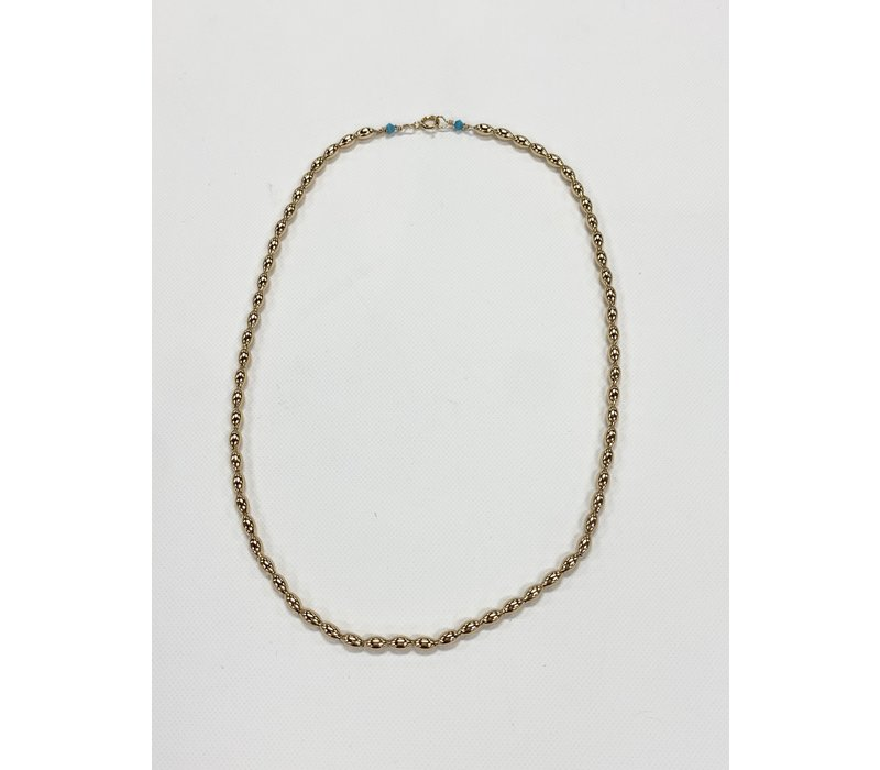 "EN 15"" Choker Harmony Small Gold Bead"