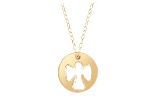EG Guardian Angel Necklace Gold