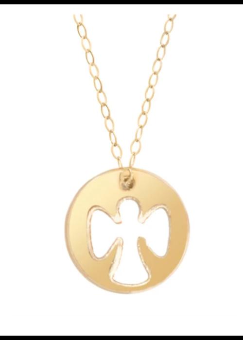 EG Guardian Angel Necklace Gold