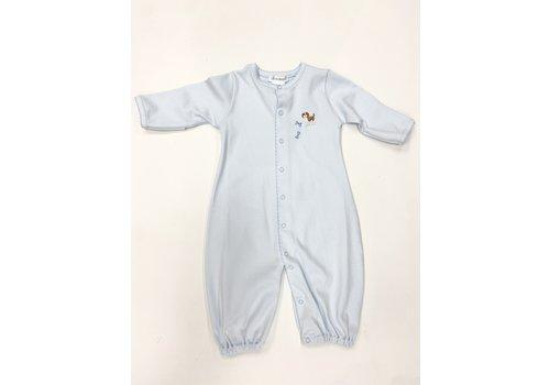 Lyda Baby LB Converter Gown - Cute Puppies Emb Boy Lt Blue