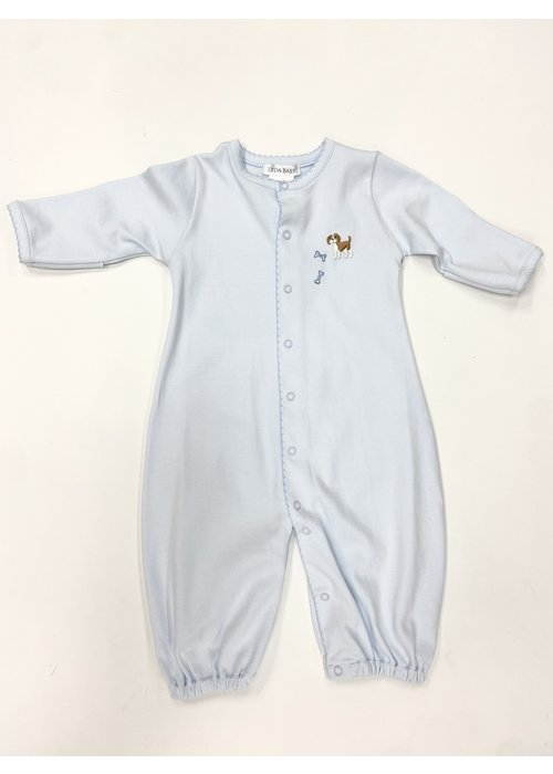 Lyda Baby LB Converter Gown - Cute Puppies Emb Boy Lt Blue