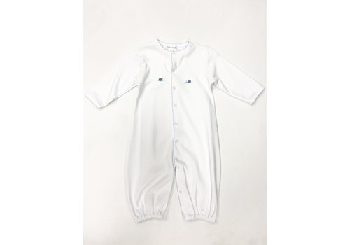 Lyda Baby LB Converter Gown - Little Snails Emb Wht