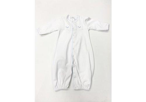 Lyda Baby LB Converter Gown -Sweet Dreams Emb Boy Wht/Bl