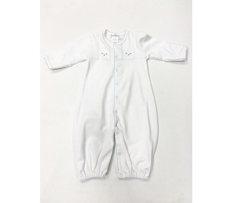 LB Converter Gown -Sweet Dreams Emb Boy Wht/Bl