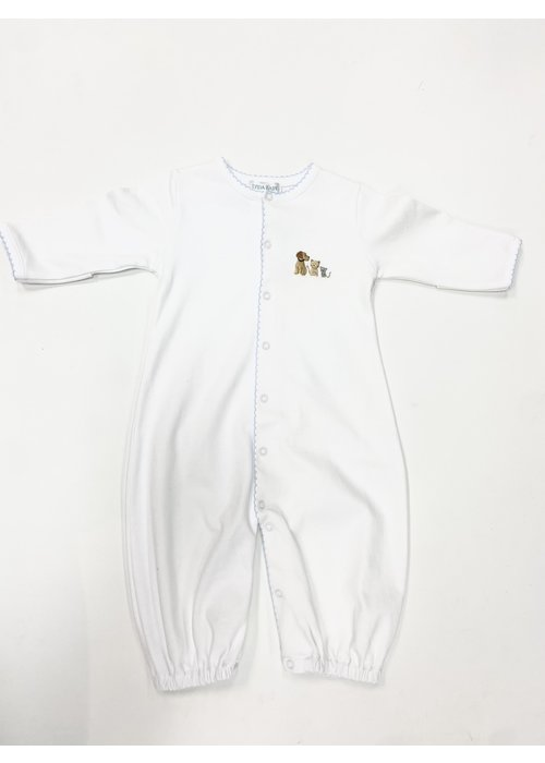 Lyda Baby LB Converter Gown - Cute Pets Emb Boy Wht