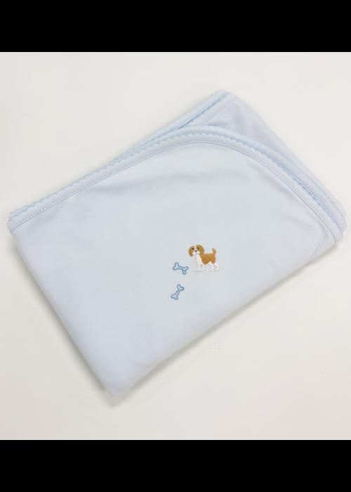 Lyda Baby LB Blanket - Cute Puppies Emb Boy Lt Blue