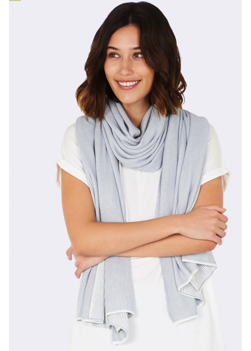 Boody Boody Cozy Knit Wrap Dove O/S