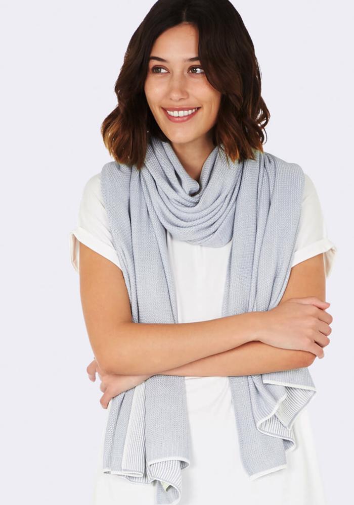 Boody Cozy Knit Wrap Dove O/S