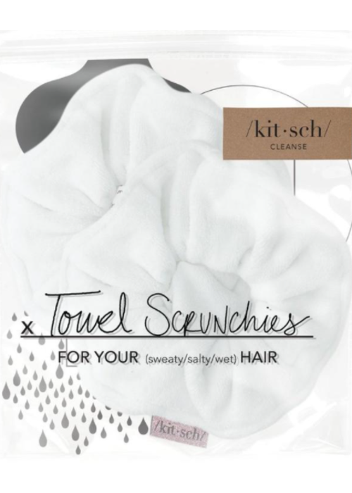 Kit Sch Kitsch Microfiber Towel Scrunchies - White