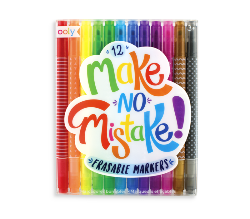 Ooly Make No Mistake Erasable Markers - set of 12