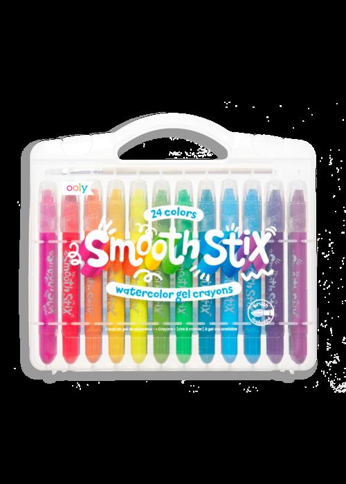 ooly Ooly Smoth Stix Watercolor Gel Crayons 7 Pc Set