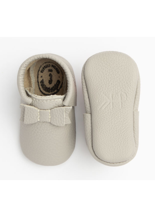 Freshly Picked FP First Pair Bow Moccasin in Stone