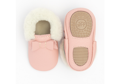 Freshly Picked FP Blush Shearling Bow Mocc Mini Sole