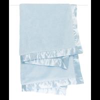 Little Giraffe Blue Satin Chenille Blanket