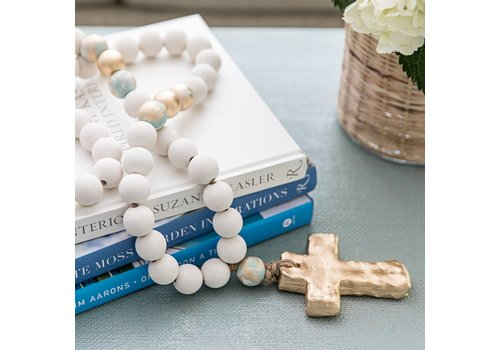 Sercy Studio Sercy Bailey Large all White and Gold Beads