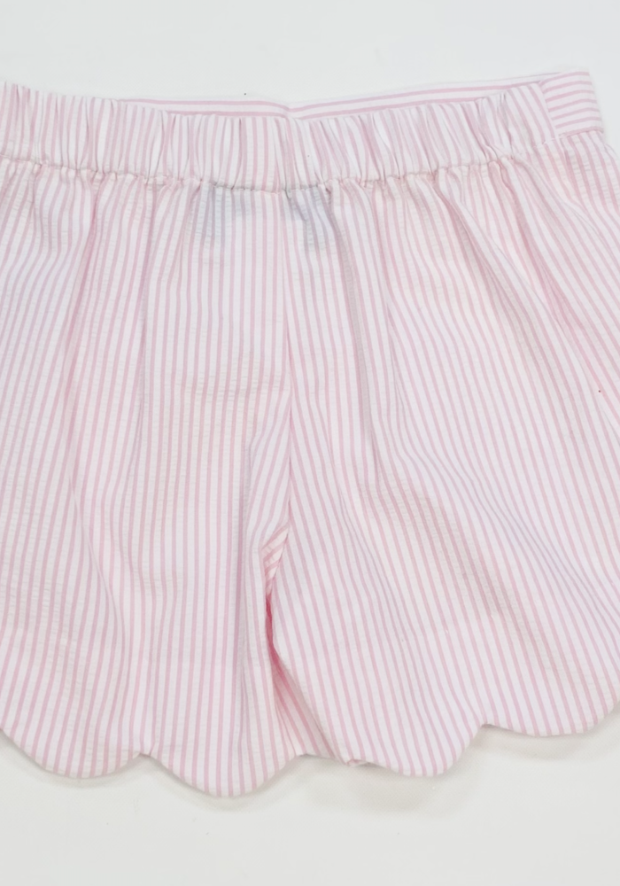 Anavini Girls Shorts Lt Pink Seersucker
