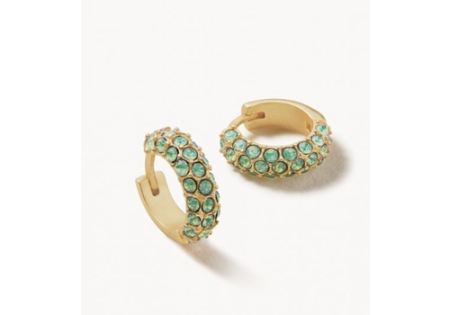 Spartina Atlantic Opal Pave Hoop Earrings