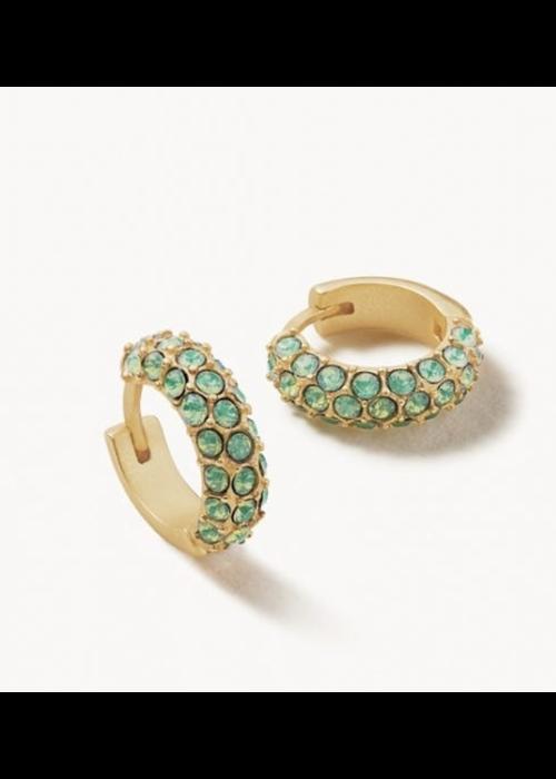 Spartina Atlantic Opal Pave Hoop Earrings