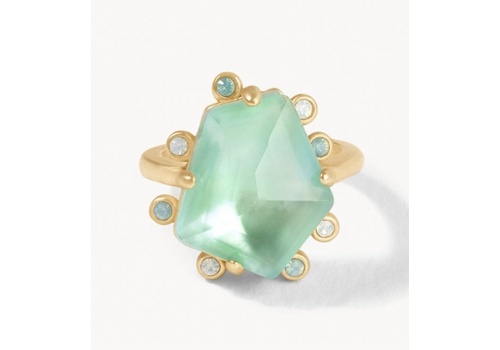 Spartina Dune Ring Aqua Pearlescent 7