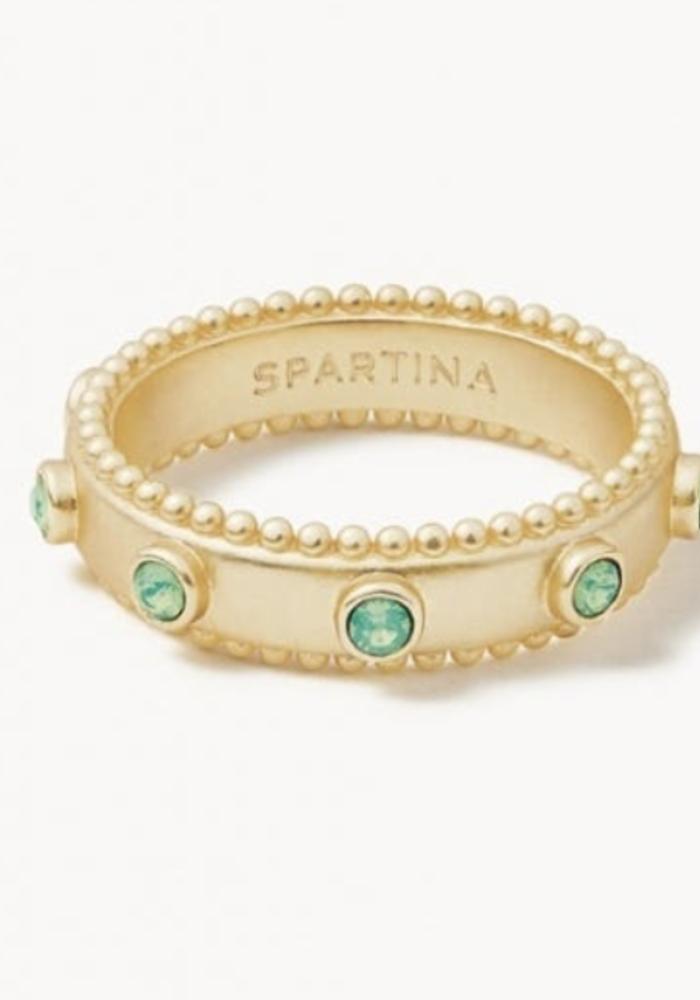 Spartina Atlantic Opal Band Ring 6