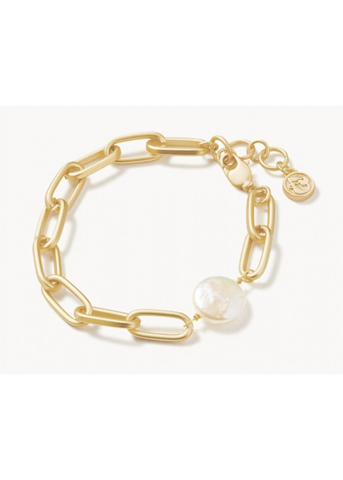 Spartina Coin Pearl Chain Bracelet Pearl