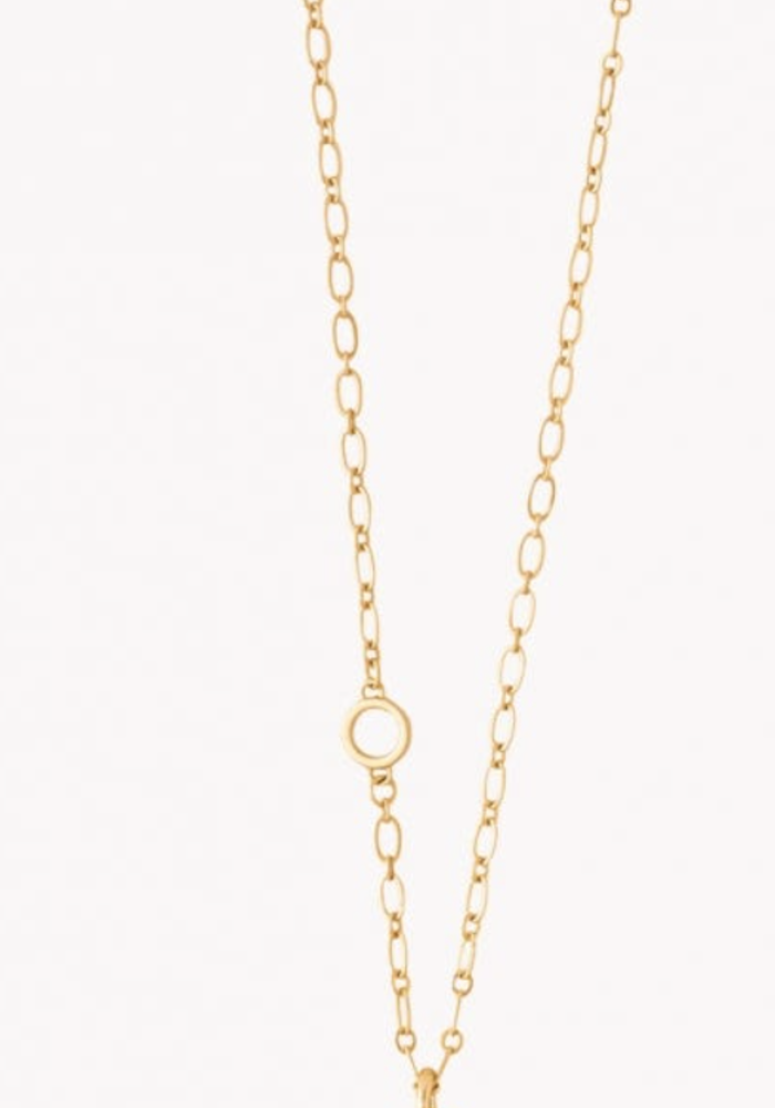 """Spartina Bee Toggle Necklace 34"""""""