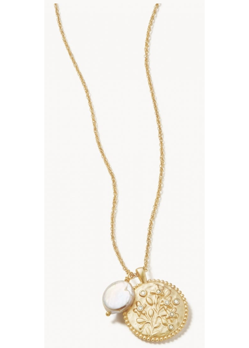 Spartina Floret Necklace 17'' Pearl