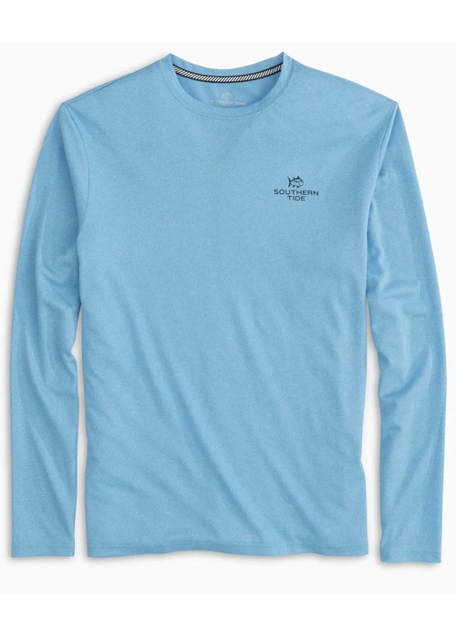 Southern Tide Boys Youth Paddleboard Stack Performance Tee in Boat Blue