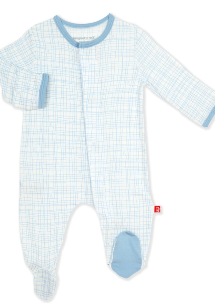 MAG Greenwich Plaid Modal Magnetic Footie