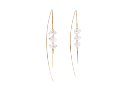 Summer Bucket SB Celeste Threaders Earrings - 14kt Gold Fill