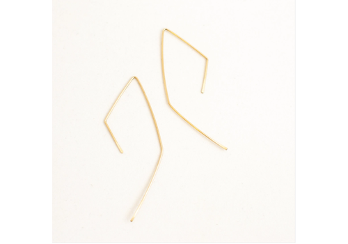 Summer Bucket SB Geo Threaders Earrings - 14kt Gold Fill