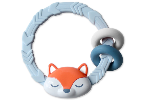 Itzy Ritzy Silicone Teether Rattle - Fox