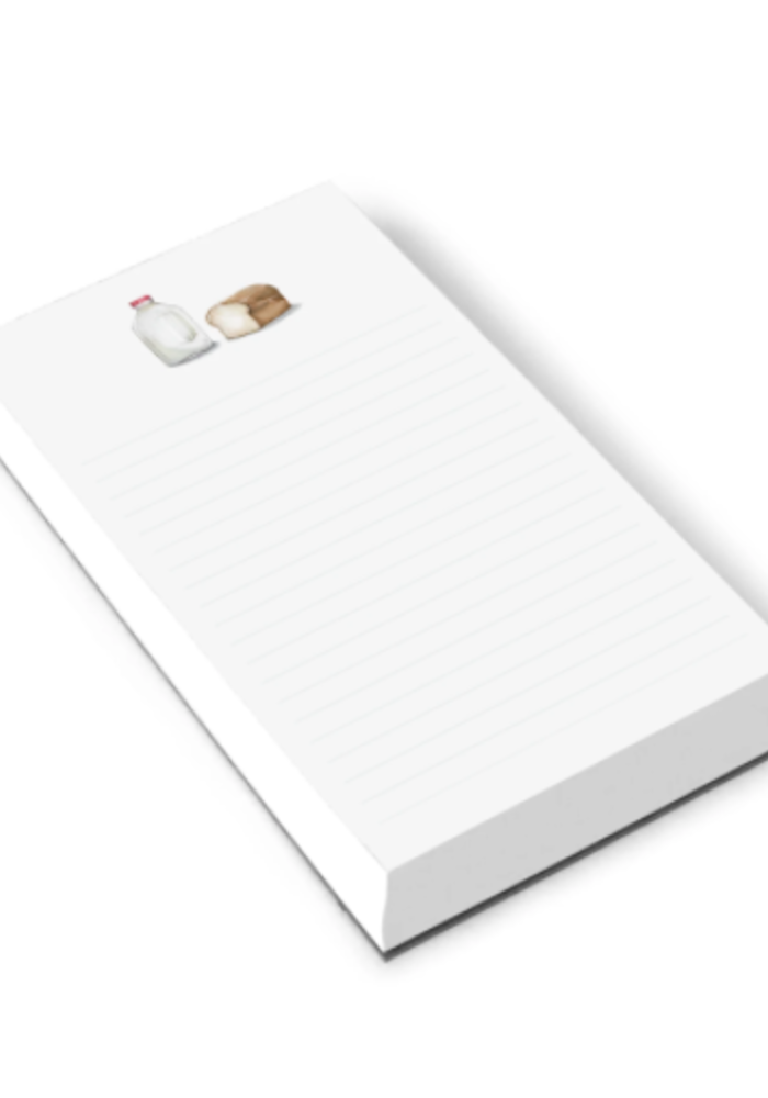 Milk and Bread Note Pad