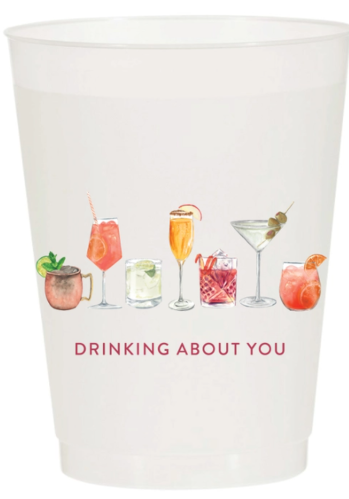Pack of 5 Party Cups - Drinking About You Watercolor