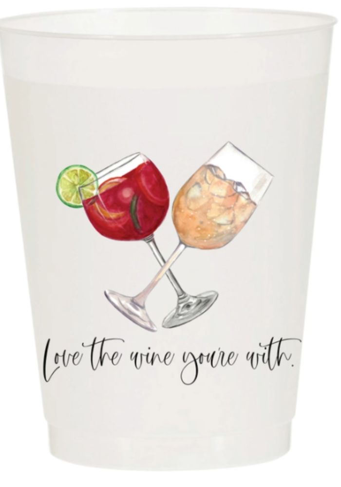 Pack of 5 Party Cups - Love the Wine You're With