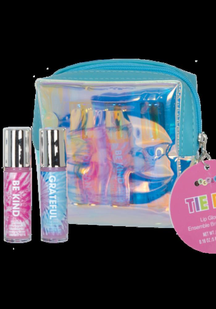 Iscream Tie Dye 3 Mini Lip Glosses in Pouch