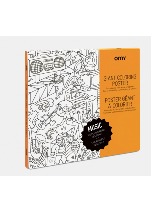 OMY Coloring Poster- Music