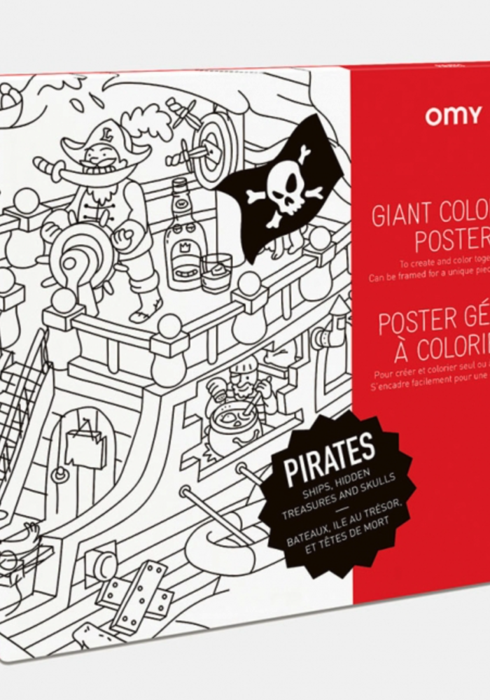 OMY Coloring Poster- Pirates